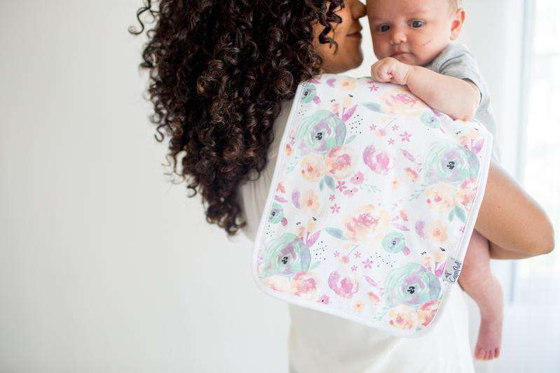 Copper Pearl | Premium Burp Cloth 3 Pack Set ~ Bloom
