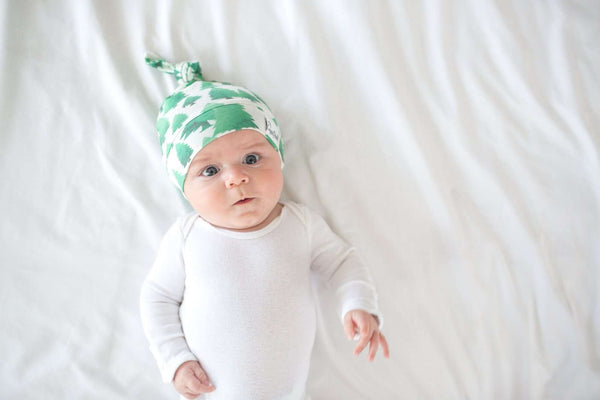 Copper Pearl | Newborn Top Knot Hat ~ Forest