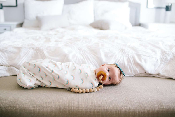 Copper Pearl |  Knit Swaddle Blanket ~ Daydream
