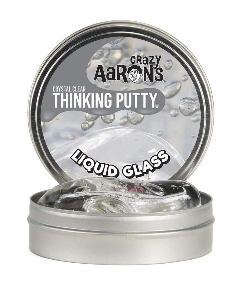 Crazy Aaron's Thinking Putty | Crystal Clear ~ Liquid Glass