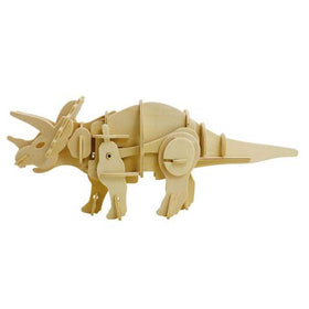 Magnote - DINOROID Triceratops Walking Wooden 3D Puzzle Kit
