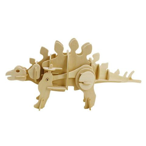 Magnote - DINOROID Stegosaurus Walking Wooden 3D Puzzle Kit