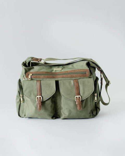 Little Unicorn | Rambler Satchel Diaper Bag ~ Olive