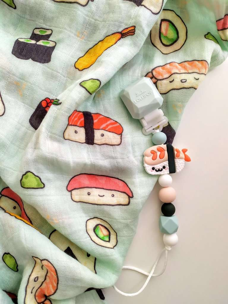 Loulou Lollipop | Darling Pacifier Clip ~ Sushi