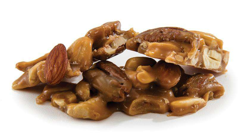 Abdallah Chocolate | Holiday Selection ~ Brittle Deluxe Nut ~ Almonds, Cashews, Pecans