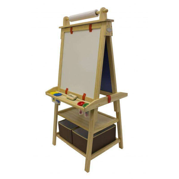 Deluxe Learn and Play Art Center Easel - Natural