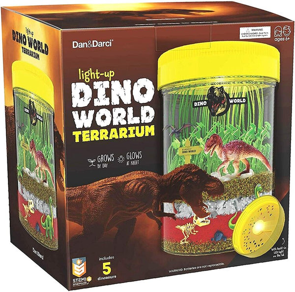 Dan & Darci | Light-up Dino World Terrarium