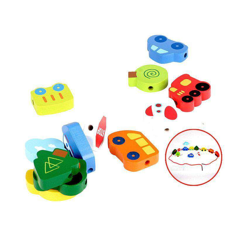 Hape | Qubes ~ Lacing Vehicles