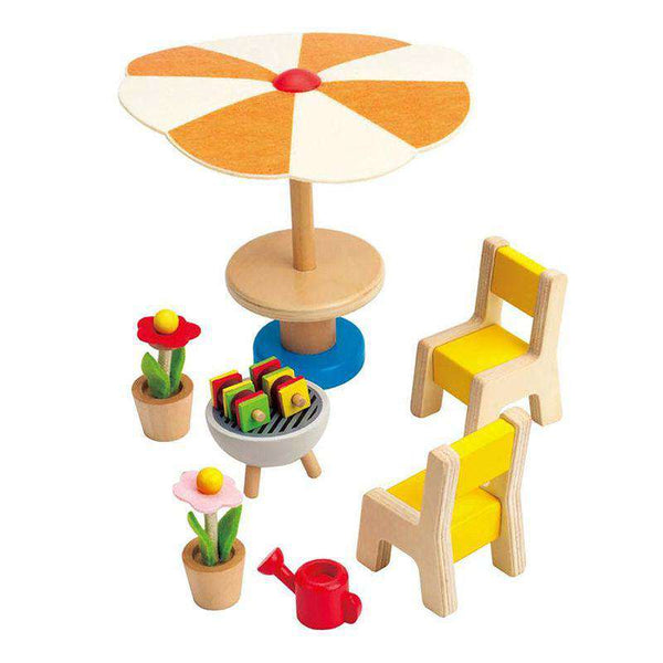 Hape | Dollhouse Additions ~ Patio Set
