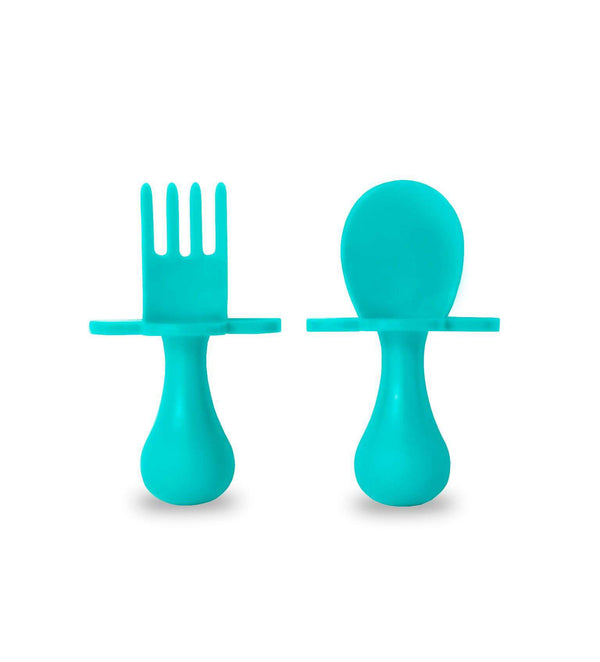 Grabease | First Self Feeding Utensil Set ~ Teal