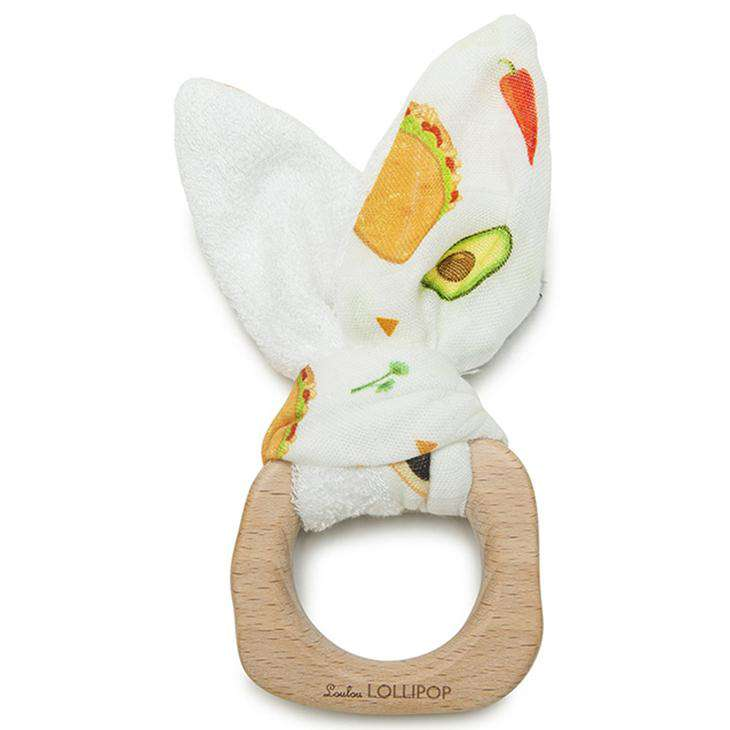 Loulou Lollipop | Bunny Ear Teether ~ Tacos