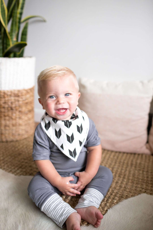 Copper Pearl | Modern Bandana Bibs 4 Pack ~ Shade