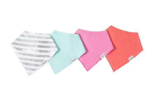 Copper Pearl | Modern Bandana Bibs 4 Pack ~ Jewel