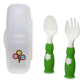 ZoLi Fork & Spoon Set ~ Green