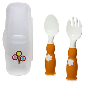 ZoLi Fork & Spoon Set ~ Orange