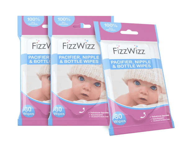 FizzWizz All-Natural Baby Bottle & Sippy Cup Cleaning Wipes