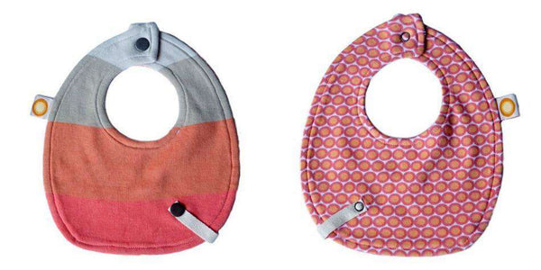 Freckle Baby Bamboo Bib w/ Snap Leash | Orange