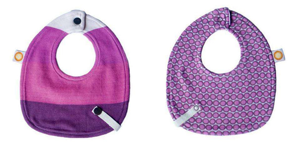 Freckle Baby Bamboo Bib w/ Snap Leash | Pink