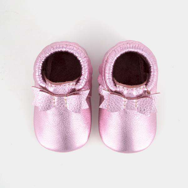 Freshly Picked | Bow Moccs ~ Frosted Rose