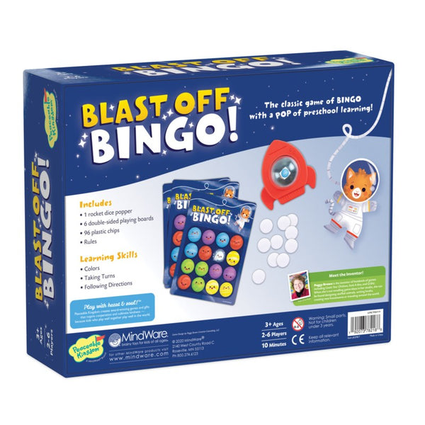 Peaceable Kingdom | Board Games ~ Blast Off Bingo