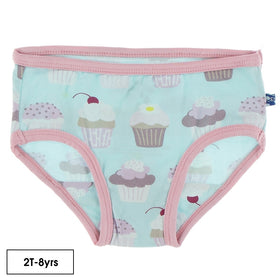 Kickee Pants Girl Underwear ~ Summer Sky Cupcakes