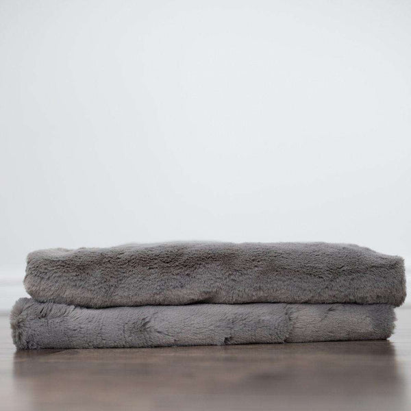 Saranoni Grand Line | Gray Mink Saranoni Grand Faux Fur Blanket *ships in a week*