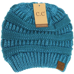 CC Beanie | Adult Solid Metallic ~ Teal