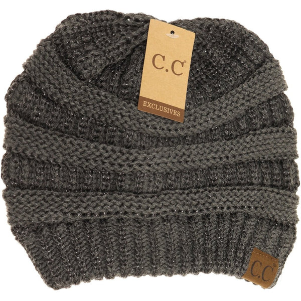 CC Beanie | Adult Solid Metallic ~ Dark Gray