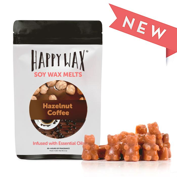 Happy Wax - Hazelnut Coffee Wax Melts - 2 oz Pouch