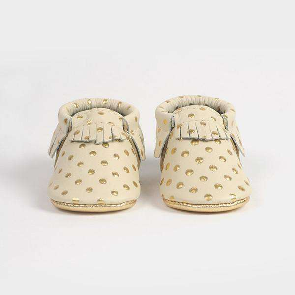 Freshly Picked | Moccs ~  Heirloom in Cream and Gold