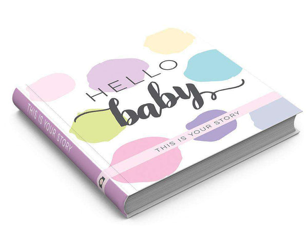 Sticky Bellies | Hello Baby Keepsake Book | Pink, Lavender, & Yellow