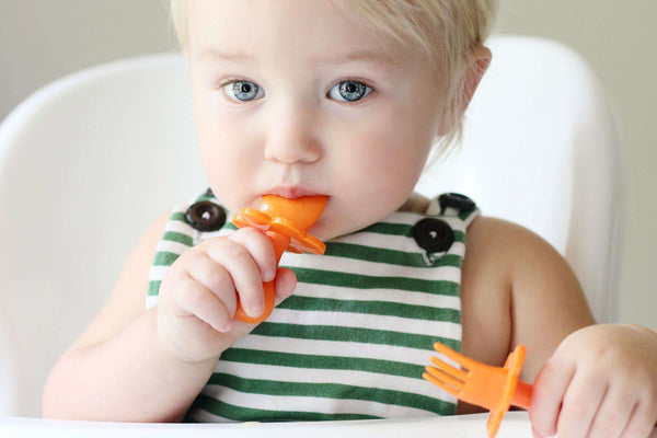 Grabease | First Self Feeding Utensil Set ~ Orange