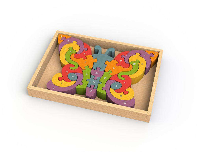 Begin Again Toys | Butterfly A-Z Puzzle