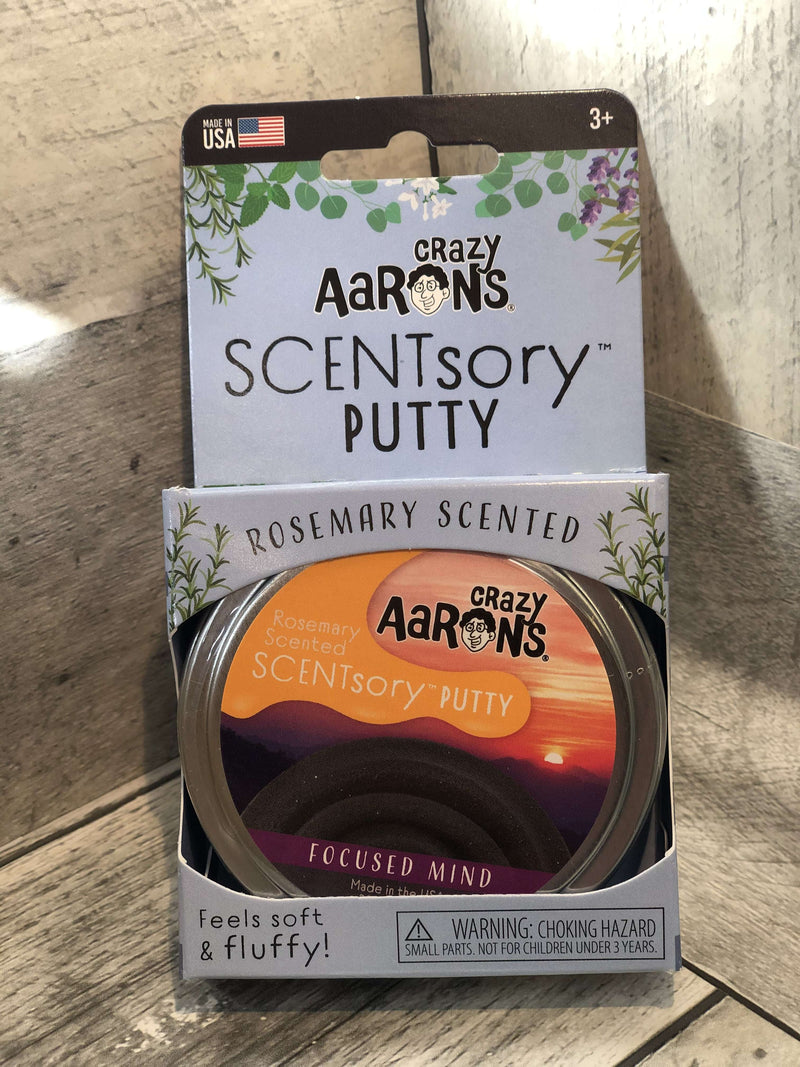 Crazy Aaron's Thinking Putty |  SCENTsory Putty ~ Focused Mind  .08 oz