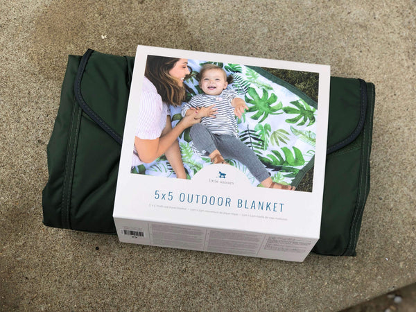 Little Unicorn | Outdoor Blanket ~ Tropical Leaf