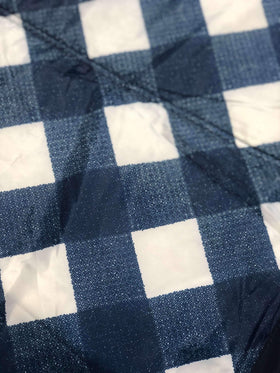 Little Unicorn | Outdoor Blanket ~ Navy Plaid 5' x 5'