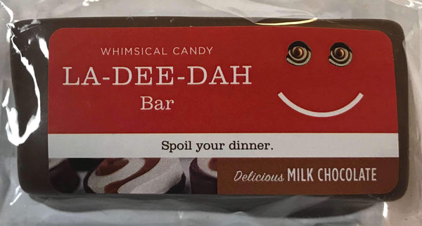 Whimsical Candy LA-DEE-DAH Bar | Delicious Milk Chocolate