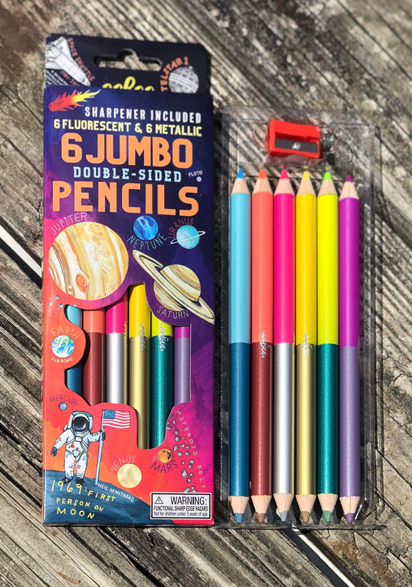 Space Adventure Double Sided Jumbo Pencils