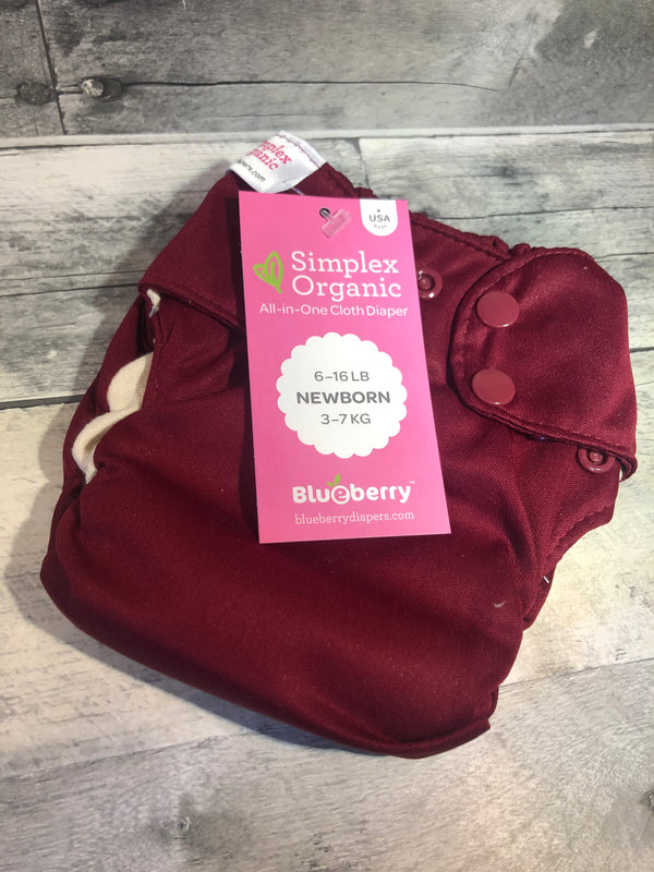 Blueberry Simplex Newborn AIO W/ Stay Dry ~ Wine