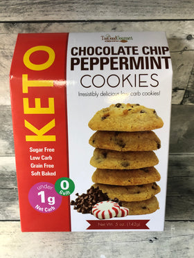 Too Good Gourmet | Keto Cookies ~ Chocolate Chip Peppermint