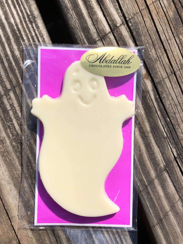 Abdallah Chocolate | Halloween Selection ~ White Smiley Ghost *final sale*