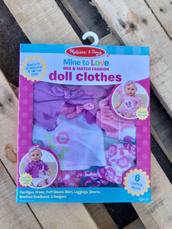Melissa Doug Mine To Love Mix Match Fashion Doll Clothes
