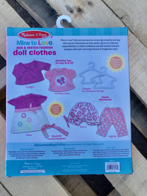 Melissa & Doug | Mine to Love - Mix & Match Fashion Doll Clothes