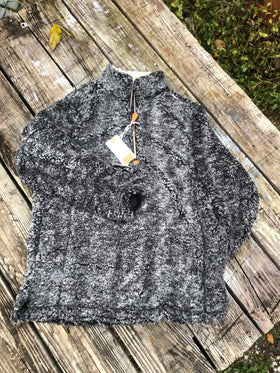 Simply Southern | Sherpa 3/4 Zip ~ Dark Gray