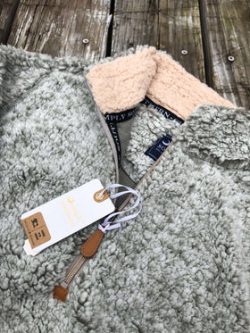 Simply Southern | Sherpa 3/4 Zip ~ Heather Gray