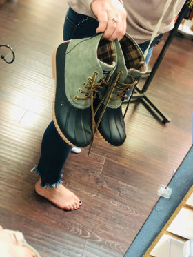 Simply Southern | Duck Boots ~ Olive