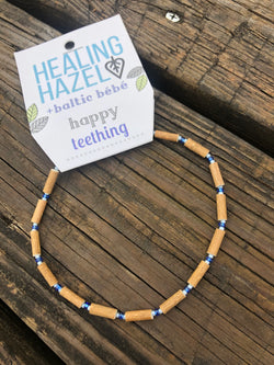Healing Hazel | HAZELWOOD Children's Necklace ~ Light Blue