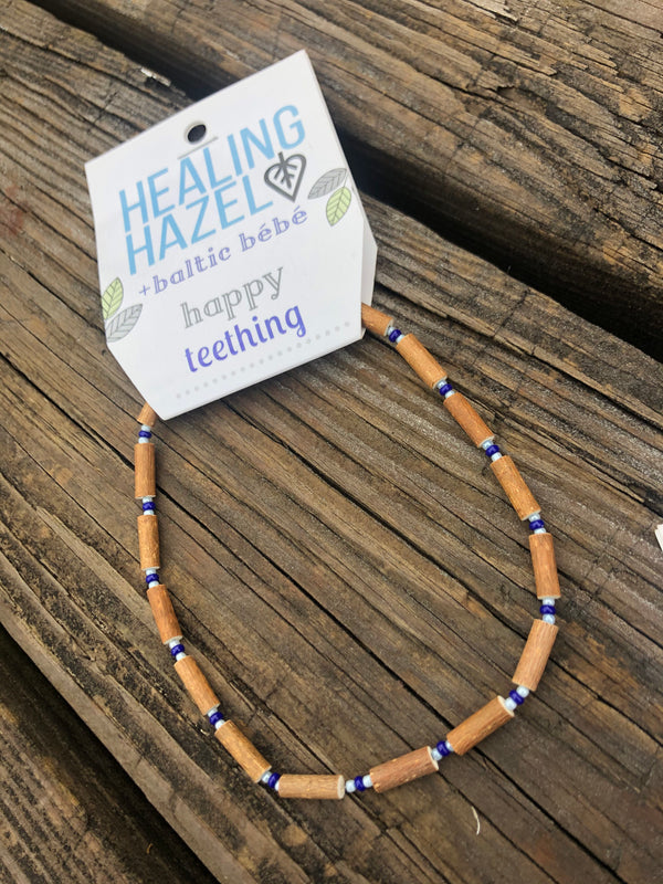 Healing Hazel | HAZELWOOD Children's Necklace ~ Dark Blue