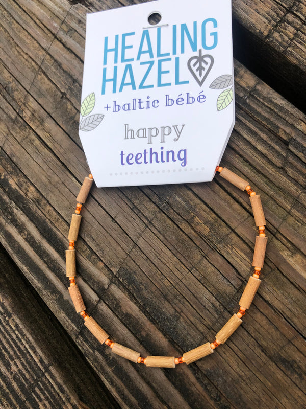 Healing Hazel | HAZELWOOD Children's Necklace ~ Orange