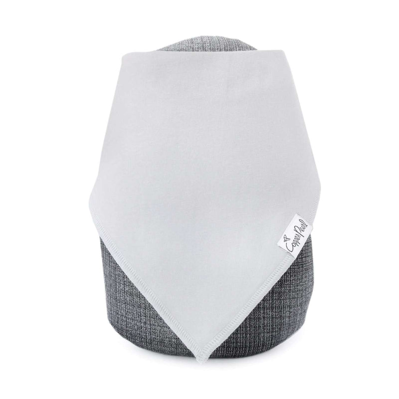 Copper Pearl | Modern Bandana Bibs 4 Pack ~ Grey Basics